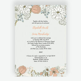 Wild Flowers Wedding Invitation