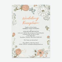 Wild Flowers Evening Reception Invitation