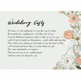 Wild Flowers Gift Wish Card