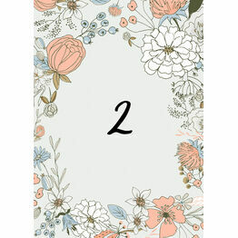Wild Flowers Table Number