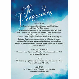 Blue Watercolour Guest Information Card
