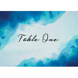 Blue Watercolour Table Name