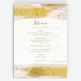 Blush & Gold Brush Strokes Menu