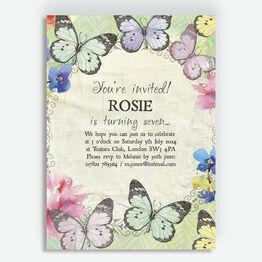 Butterfly Garden Party Invitation