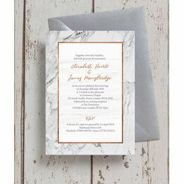 Marble & Copper Wedding Invitation