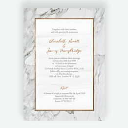 Marble & Copper Wedding Invitation