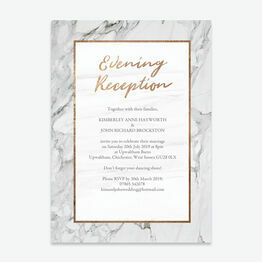 Marble & Copper Evening Reception Invitation