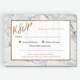 Marble & Copper RSVP