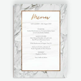 Marble & Copper Menu
