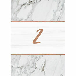 Marble & Copper Table Number