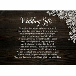 Rustic Wood & Lace Gift Wish Card