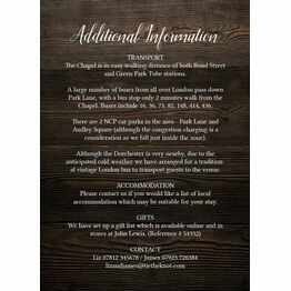 Rustic Wood & Lace Guest Information Card