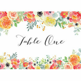 Coral & Blush Flowers Table Name