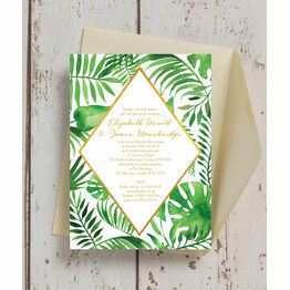 Tropical Leaves Wedding Invitation