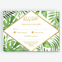 Tropical Leaves RSVP