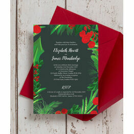 Winter Berries Wedding Invitation