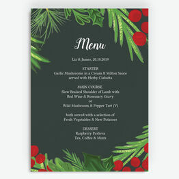 Winter Berries Menu