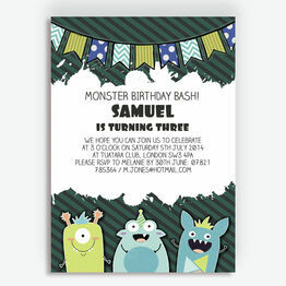 Monster Mayhem Party Invitation