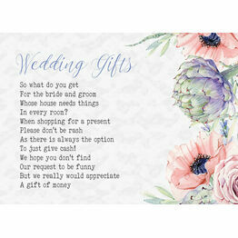 Country Flowers Gift Wish Card