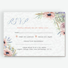 Country Flowers RSVP