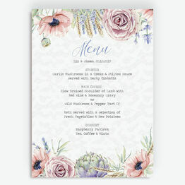 Country Flowers Menu