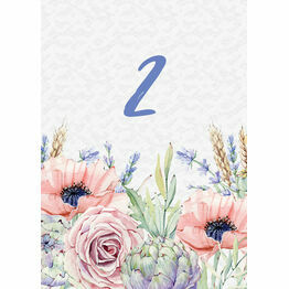 Country Flowers Table Number