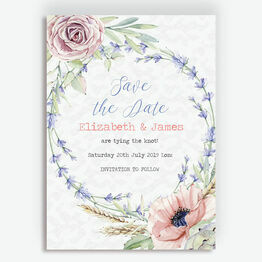 Country Flowers Save the Date