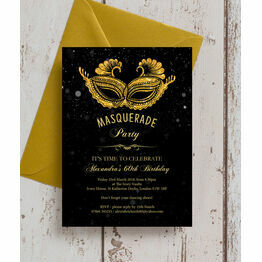 Masquerade Themed 60th Birthday Party Invitation
