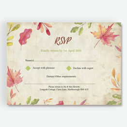 Autumn Leaves RSVP