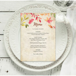 Autumn Leaves Menu