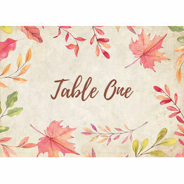 Autumn Leaves Table Name