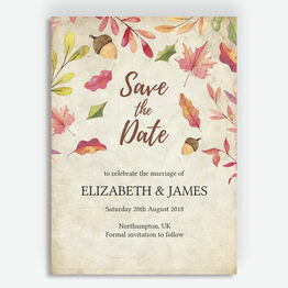 Autumn Leaves Save the Date