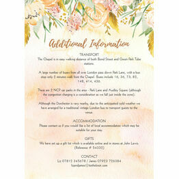 Gold Floral Guest Information Card