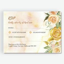Gold Floral RSVP