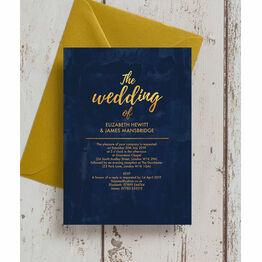 Navy & Gold Wedding Invitation