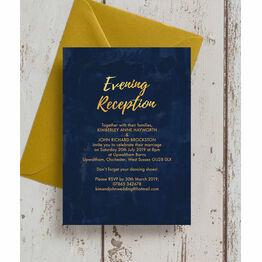 Navy & Gold Evening Reception Invitation