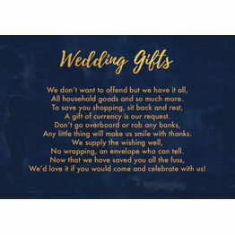 Navy & Gold Gift Wish Card