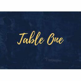 Navy & Gold Table Name