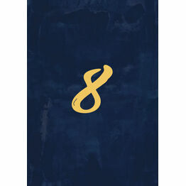 Navy & Gold Table Number