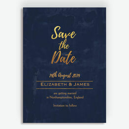 Navy & Gold Save the Date