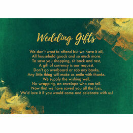 Emerald & Gold Gift Wish Card