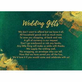 Emerald & Gold Gift Wish Card