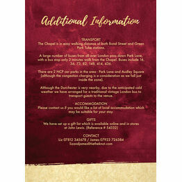 Burgundy & Gold Guest Information Card