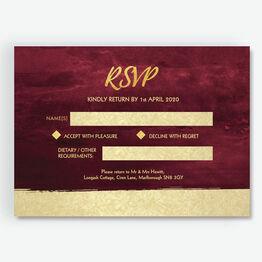 Burgundy & Gold RSVP