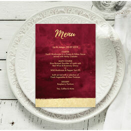 Burgundy & Gold Menu
