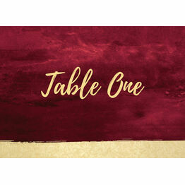 Burgundy & Gold Table Name