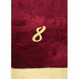 Burgundy & Gold Table Number