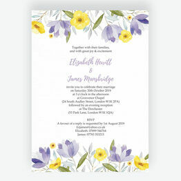 Lilac & Lemon Wedding Invitation