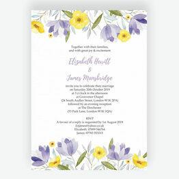 Lilac & Lemon Wedding Invitation