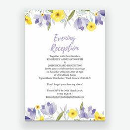 Lilac & Lemon Evening Reception Invitation